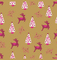 christmas holidays seamless repeat background vector image