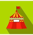 Circus tent flat icon vector image vector image