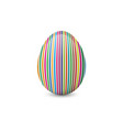 colorful painted and decorated easter egg vector image vector image