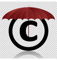 copyright symbol protection isolated on vector image