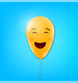 creative of realistic smiling vector image vector image