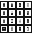 Door icons set in simple style vector image vector image
