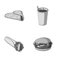 fast meal eating and other web icon in vector image vector image