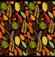 floral seamless pattern with a fallen leaves vector image vector image