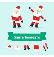 Funny dancing santa claus isolated father vector image