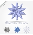 geometric star logo vector image vector image