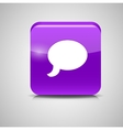 Glass Chat Button vector image