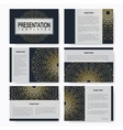 Golden set of templates for multipurpose vector image vector image