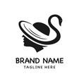 goose hat logo vector image