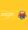 graphic design designer tools and software banner vector image