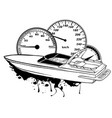 graphics speed boat race art vector image