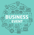 green line flat circle business event vector image vector image
