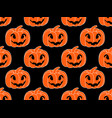 halloween pattern seamless with pumpkins festive vector image