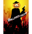 hallowen party background vector image vector image
