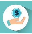 hand concept save money currency vector image