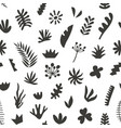 hand drawn botanical doodles seamless pattern vector image vector image