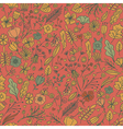 Hand drawn floral seamless pattern with flowers vector image vector image