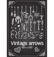 hand drawn vintage arrows vector image