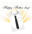 happy fathers day with business shirth over white vector image
