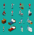 hotel staff isometric set vector image vector image