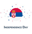 independence day of serbia patriotic banner vector image vector image