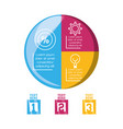 infographic template circle and business icon vector image
