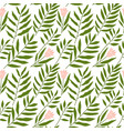 jungle pattern with tropical leaves vector image