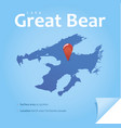 lake great bear vector image vector image