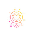 like icon line badge with heart vector image vector image
