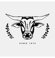 Logo symbol sign stencil bull headUnique technique vector image vector image