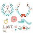 Love laurels vector image vector image