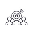 marketing audience engagement line icon vector image vector image