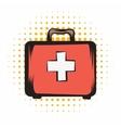 Medicine chest comics icon vector image vector image