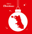 merry christmas theme with map of chicago vector image vector image