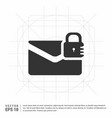 message secure icon vector image