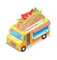 Mexican Food Street Eatery in Isometric Projection vector image vector image