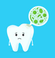 microscopic caries bacterias vector image