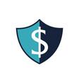 modern icon shield letter dollar vector image vector image