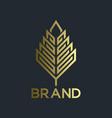 modern real estate and logo leaf vector image vector image