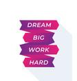 Motivation quote dream big work hard