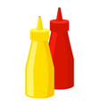 mustard and ketchup icon fastfood isolated sweet vector image vector image