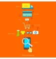 Online Shopping Pictogram vector image vector image