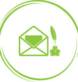 open mail with inkstandn vector image