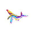 paper cut whale shape 3d origami vector image vector image