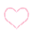 Pink Flower Buds in A Heart Shape vector image vector image