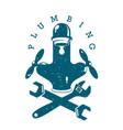 plumbing repair design business vector image vector image