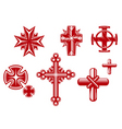 religious crosses vector image vector image