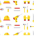 seamless tools pattern construction tools vector image