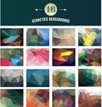 Set of Polygonal Geometric abstract elements vector image