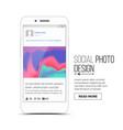 social photo frame mobile app vector image vector image